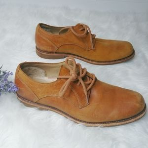 UGG leather nubuck shoes lace up